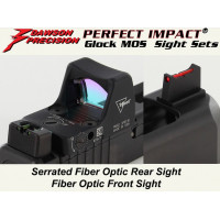 Dawson Precision Glock MOS Fixed Co-Witness Sight Set (For Trijicon RMR / Vortex Viper and similar red dot scopes)  310-264
