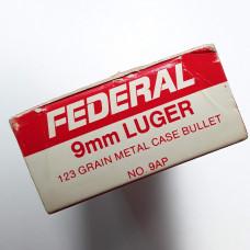 Federal 9mm Luger 123 Grain Metal Case (50) Surplus
