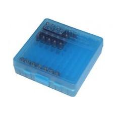 MTM Ammo Box 100 Round 9mm Clear Blue