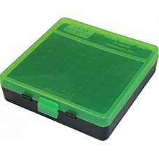 MTM Ammo Box 100 Round 9mm Clear Green/Black
