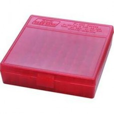 MTM Ammo Box 100 Round 9mm Clear Red