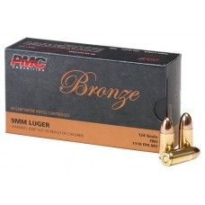 PMC 9mm 124 Gr FMJ Bronze Ammunition