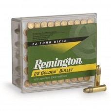 Remington .22LR Golden Bullet High-Velocity, RN, 40 Grain, 100 Rounds
