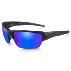 Wiley X Saint Polarized Blue Mirror/Matte Black Frame