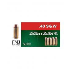 Sellier & Bellot 40 S&W 180 Grain Full Metal Jacket