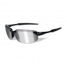 Wiley X TOBI Polarized Silver Flash/Gloss Black Frame