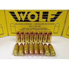 Wolf Remanufactured Ammunition 9mm 124 Grain Total Metal Jacket